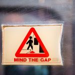 Vintage Mind the Gap Sign