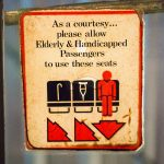 Vintage Elderly & Handicapped Sign