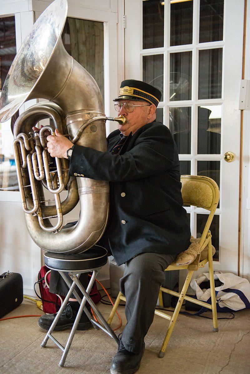 Tuba player – Halton County Railway Museum