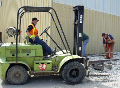Hamilton Street Railway Forklift