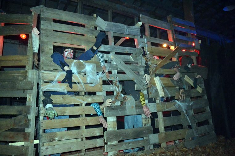 Haunted barn display